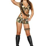 Sexy Soldier Costume - 6 pc