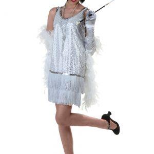 Silver Plus Size Flapper Dress