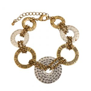 Silver and Gold Loop Bracelet