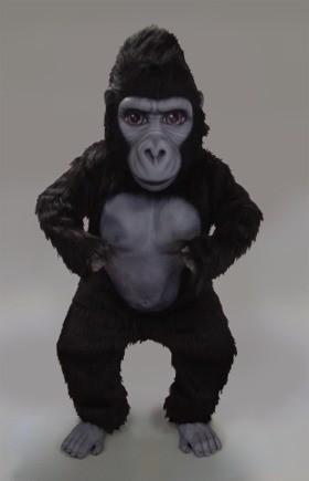Silverback Gorilla Mascot Costume