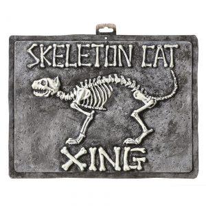 Skeleton Cat Sign