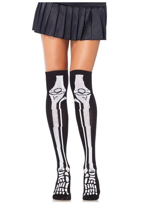 Skeleton Knee High Socks