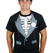 Skeleton Tux Costume Shirt