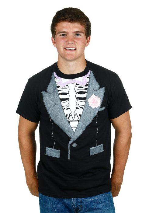 Skeleton Tux Costume Shirt