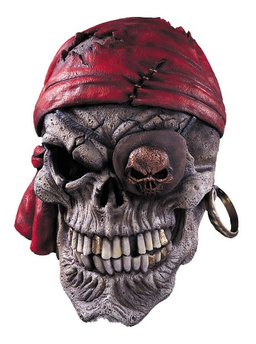 Skull Pirate Halloween Mask