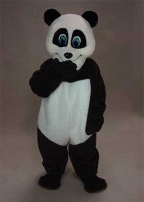 Smiling Panda Mascot Costume