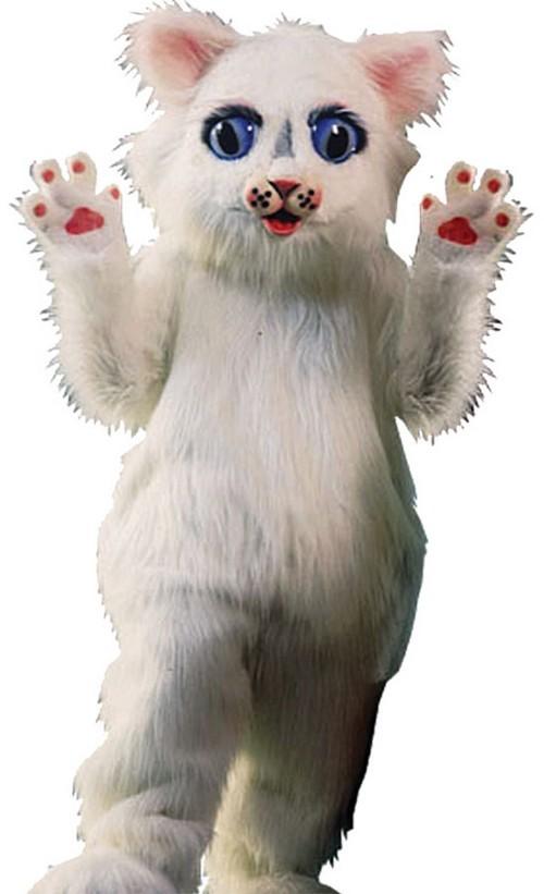 Snow Ball Kitty Mascot Costume