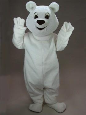 Snowball Polar Bear Mascot Costume