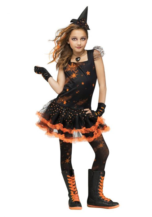 Sparkle Star Witch Child Costume