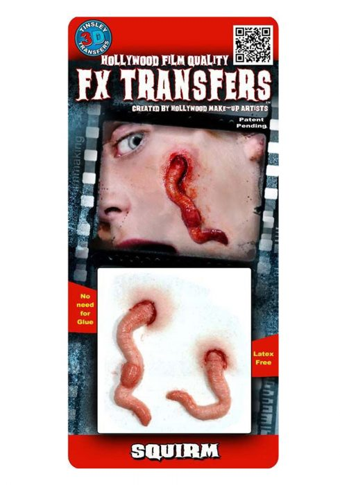 Squirm Worm Temporary 3-D Tattoo Kit