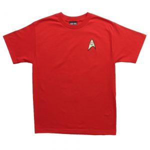 Star Trek Engineering Uniform On Red TShirt