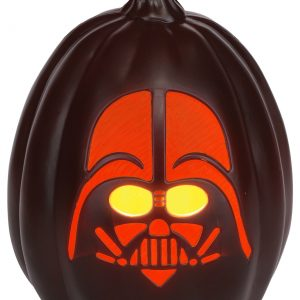 "Star Wars 12"" Darth Vader Face Light-Up Pumpkin"