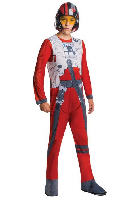 Star Wars Force Awakens Poe Fighter Pilot Boys Costume