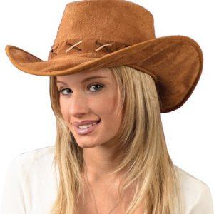 Suede Cowboy Costume Hat