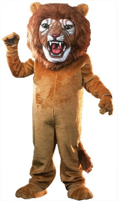 Super Lion Mascot Costume