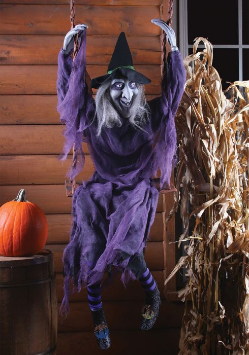 Swinging Witch Decoration