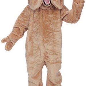 Tan Bulldog Mascot Costume