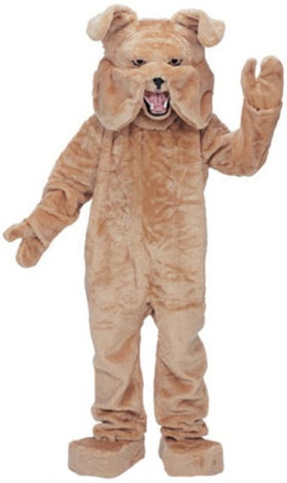 Tan Bulldog Mascot Costume