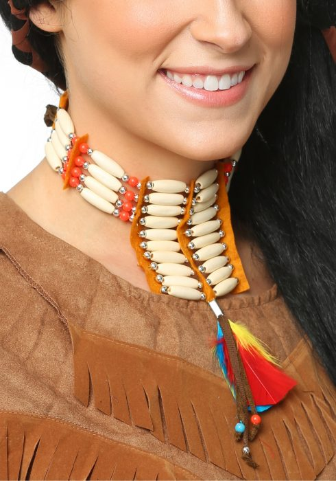 Tan Native Mini Breastplate Choker