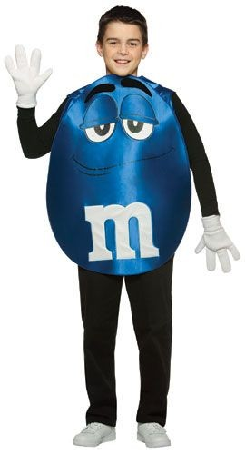Teen Blue M&M'S Character Poncho Costume