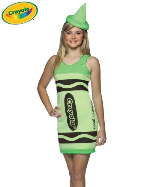Teen Crayola Crayon Costume - Screamin' Green