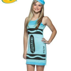 Teen Crayola Crayon Costume - Sky Blue