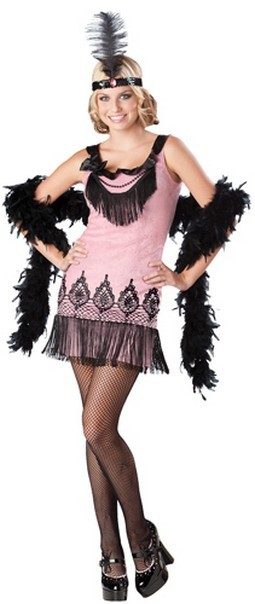 Teen Flapper Costume - Flirty Flapper
