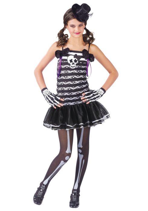 Teen Girls Skeleton Costume