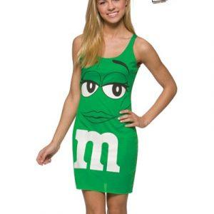 Teen M&M's Green Tank Dress