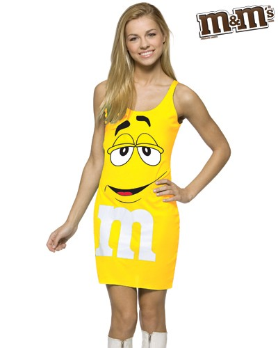 Teen M&M's Yellow Tank Dress