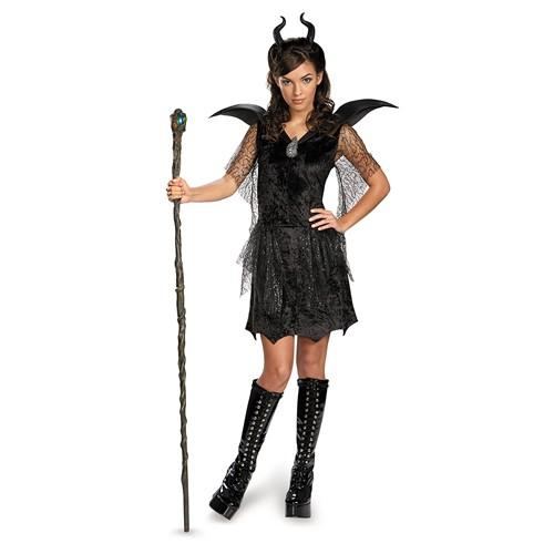 Teen Maleficent Black Gown Deluxe