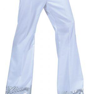 Teen White Sequin Cuff Disco Pants