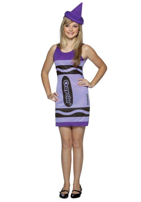 Teen Wisteria Crayon Dress