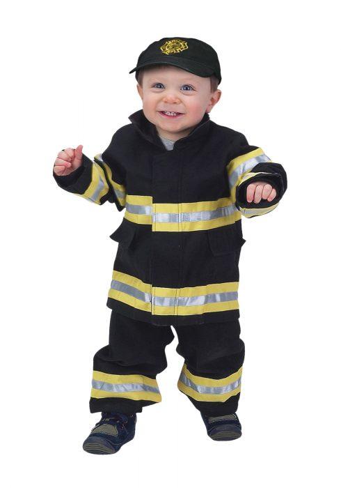 Toddler Black Firefighter Costume