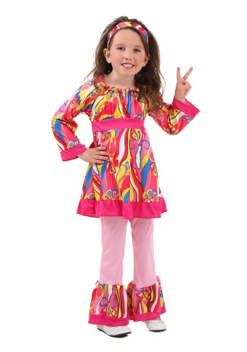 Toddler Disco Top and Bell Bottoms Costume