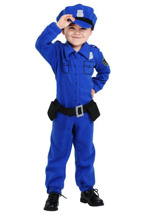 Toddler Fleece Police Costume