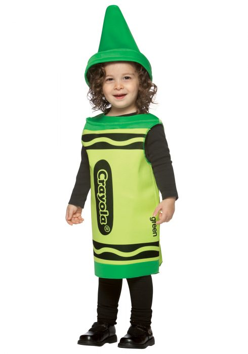 Toddler Green Crayon Costume