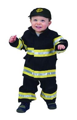 Toddler Jr. Fire Fighter Suit (Black)