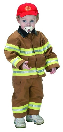 Toddler Jr. Fire Fighter Suit (Tan)