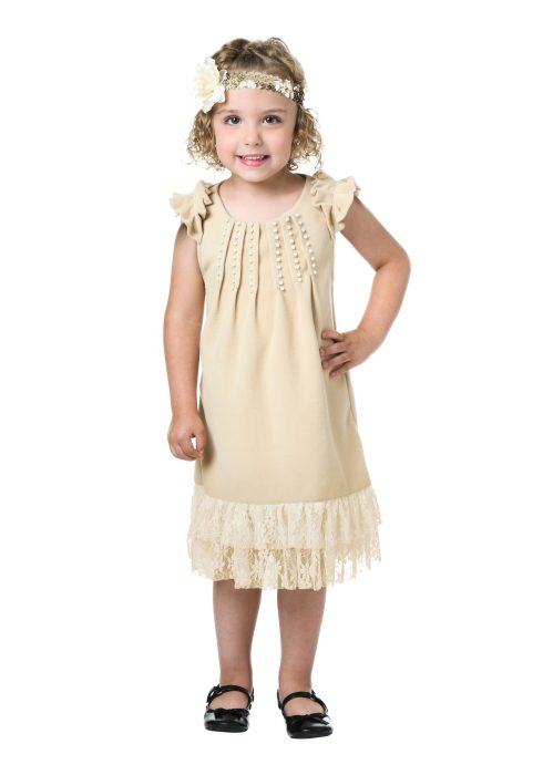 Toddler Pearl and Lace Flapper Costume