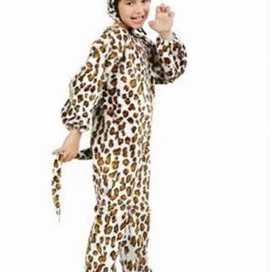 Toddler Plush Leopard Jumpsuit