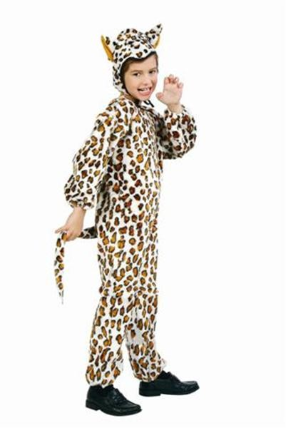Toddler Plush Leopard Jumpsuit