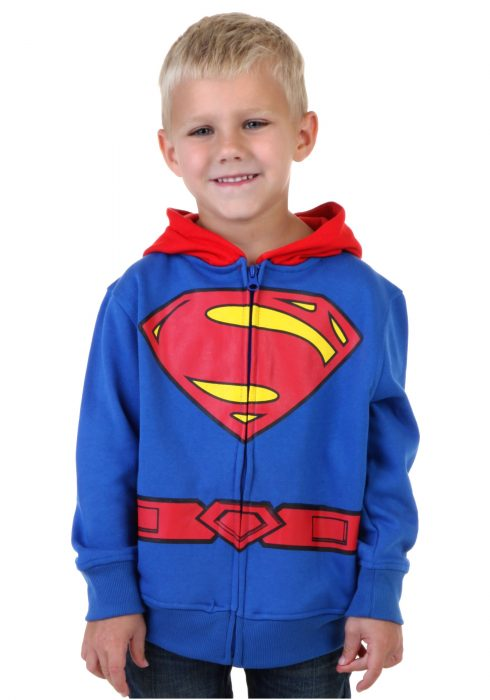 Toddler Superman Logo Costume Hoodie