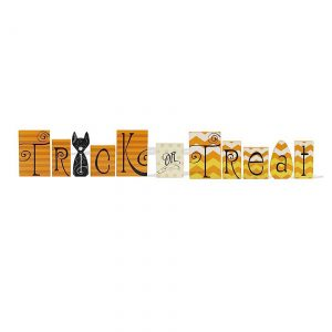 Trick or Treat Wood Bricks
