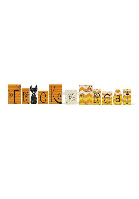 Trick or Treat Wood Bricks