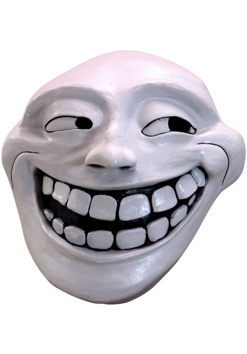 Troll Meme Face Adult Mask