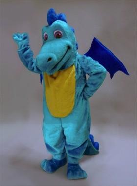 Turquoise Dragon Mascot Costume
