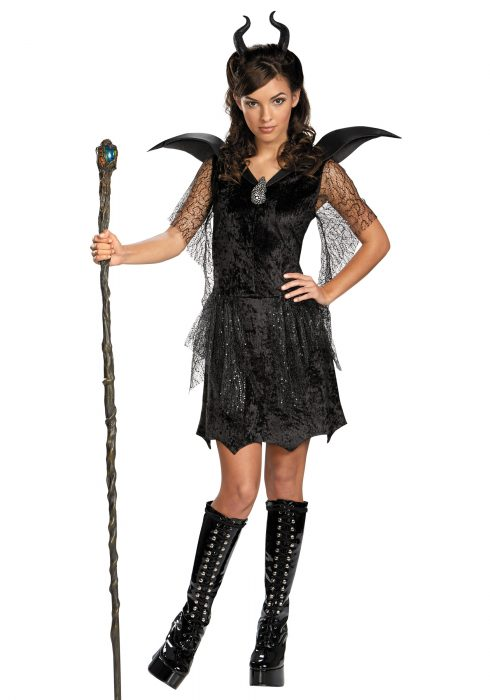 Tween Black Maleficent Gown Costume