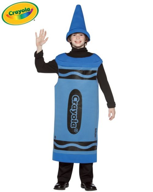 Tween Blue Crayola Crayon Costume