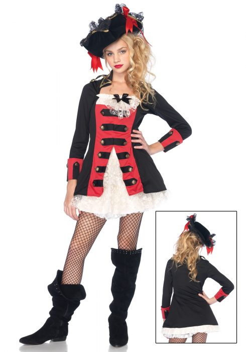 Tween Charming Pirate Captain Costume
